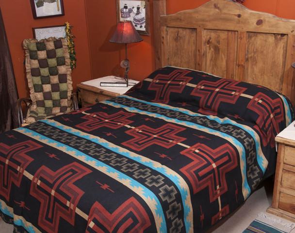 Southwest Bedspread Bedding -Cochiti Rust TWIN