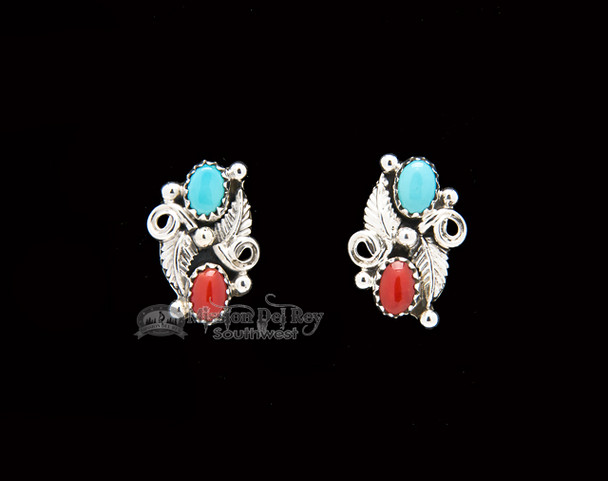 Double Stone Sterling Silver Studs