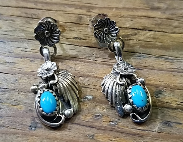 Sterling Silver Studs - Turquoise