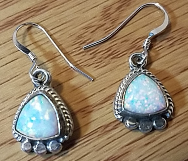Sterling Silver and Opal Earrings