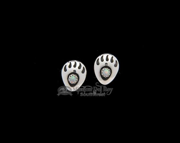 Bear Paw with Opal Stone Earrings