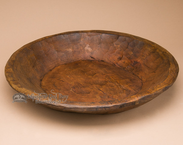 Large Rustic Wooden Bowl -Round