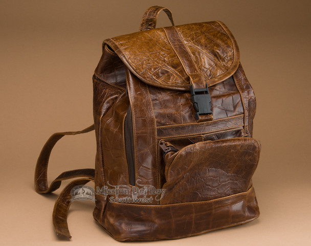 Faux Croc Leather Back Pack
