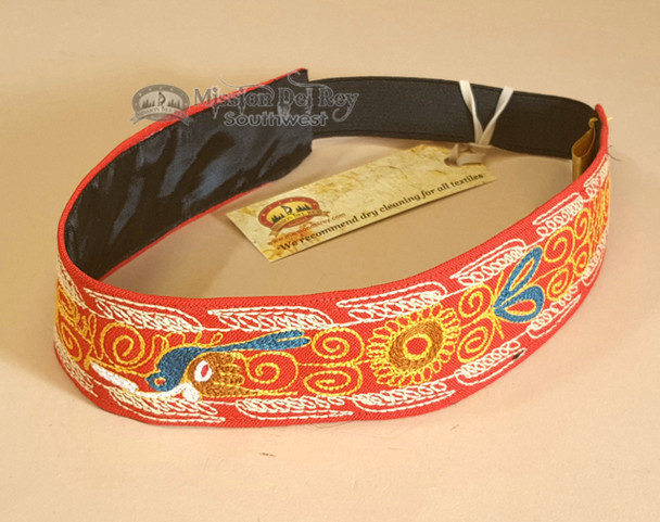 Andean Embroidered Headband - Red