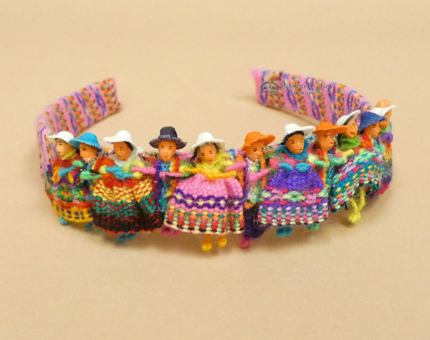 Andean Indian Woven Head band -Worry Dolls