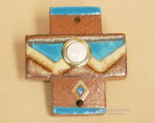 Hand Painted Saltillo Tile Cross Doorbell