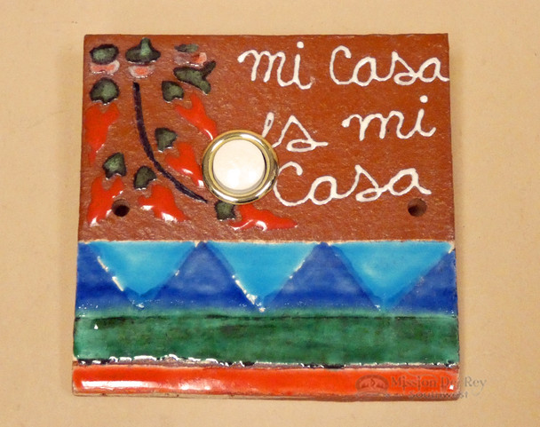 Hand Painted Saltillo Doorbell