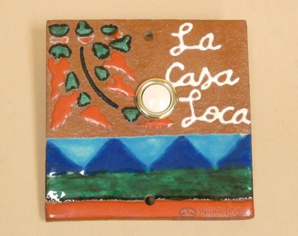 Hand Painted Saltillo Doorbell - Casa Loca