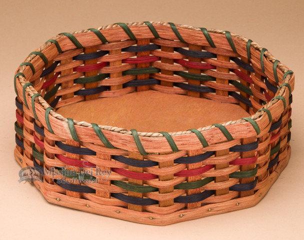 Amish Handmade Octagonal Basket