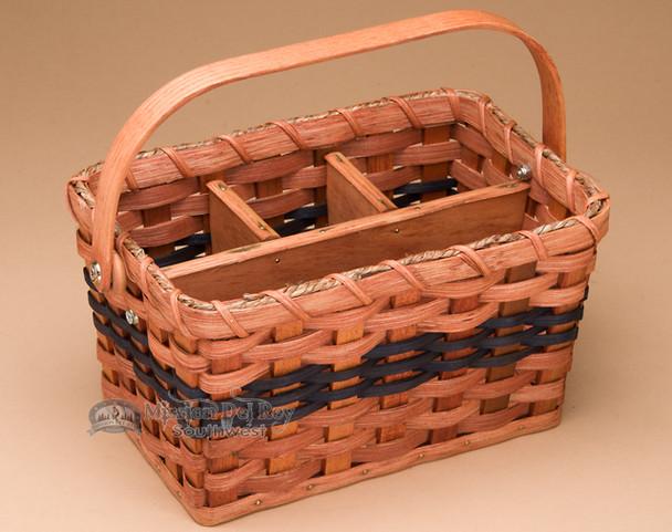 Amish Made Organizer Basket - Blue