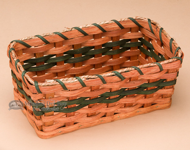 Hand Made Amish Snack Basket - Green