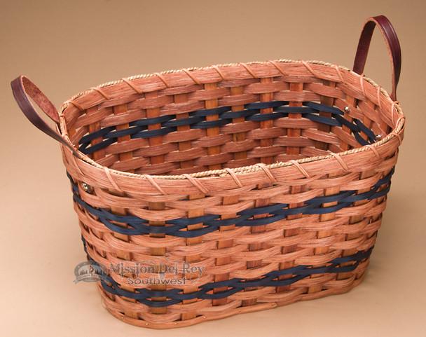 Child Size Amish Laundry Basket - Blue