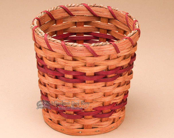 Handmade Utensil Amish Basket - Red