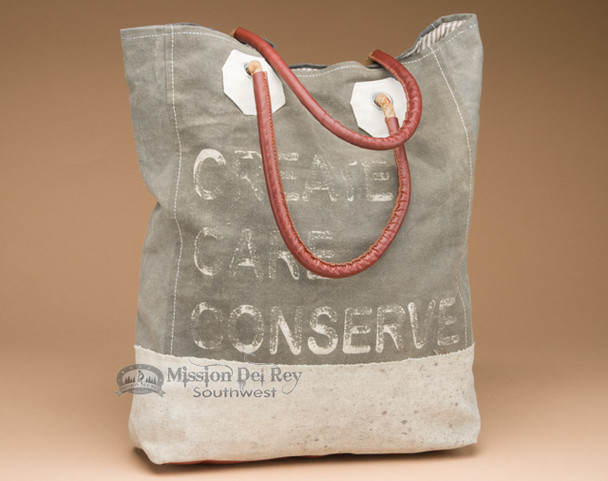 Recycled Canvas Tote Bag - Create Care Conserve