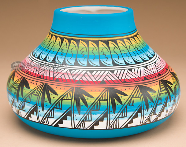 Navajo Painted Pottery Vase