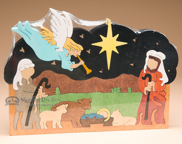 Handcrafted Amish Jig Saw Puzzle -Nativity Angel