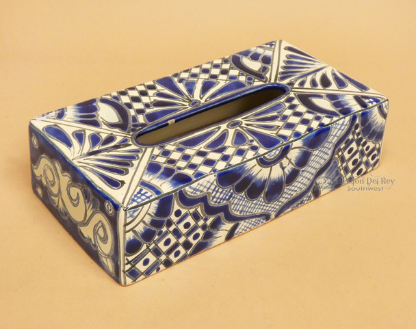 Hand Painted Talavera Tissue Cover