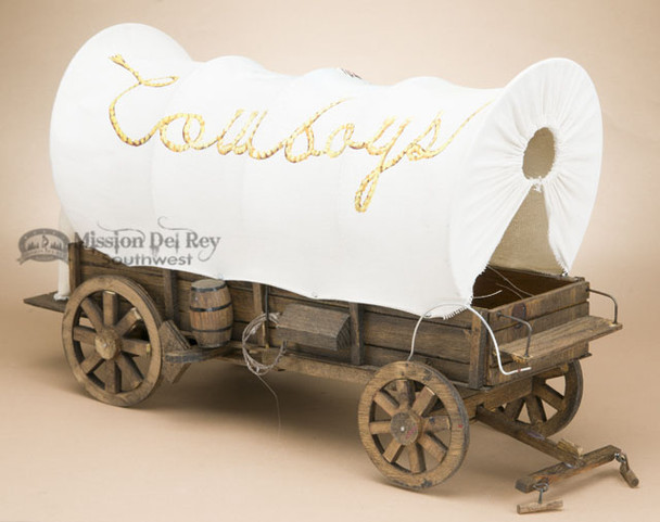 Handcrafted Covered Wagon - Cowboys