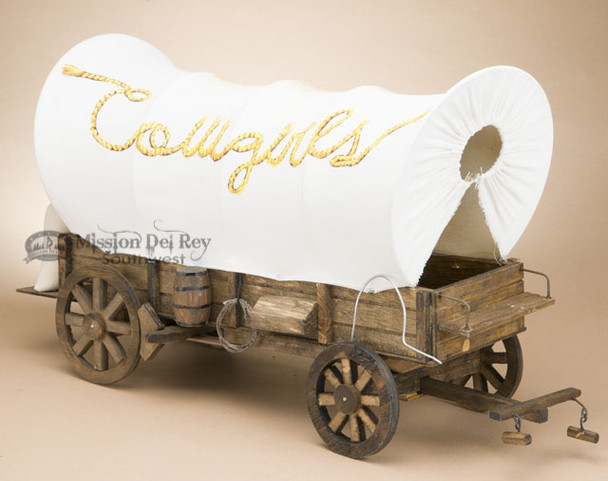 Handcrafted Covered Wagon - Cowgirls