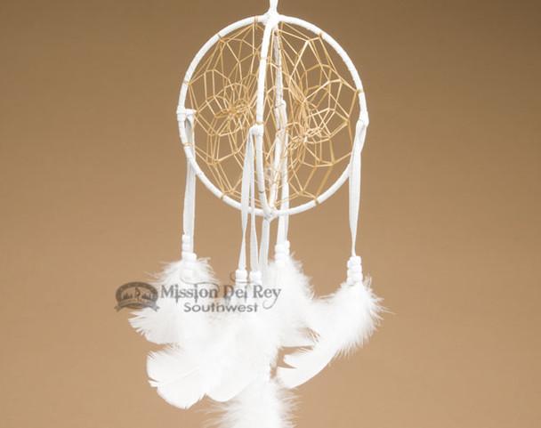 3D Native American Dreamcatcher - White