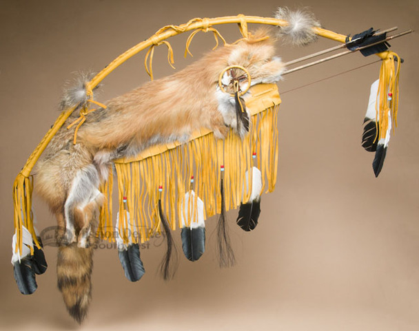 Navajo Native American Deer Skin Bow & Fox Quiver Set