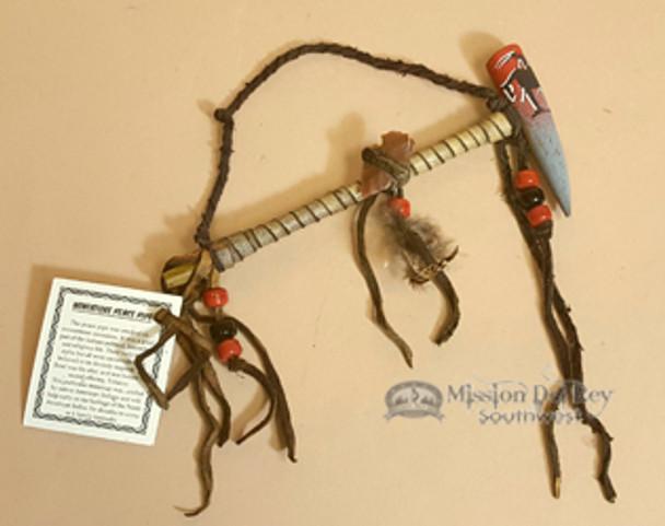 "Native American Painted Antler Pipe 6"""