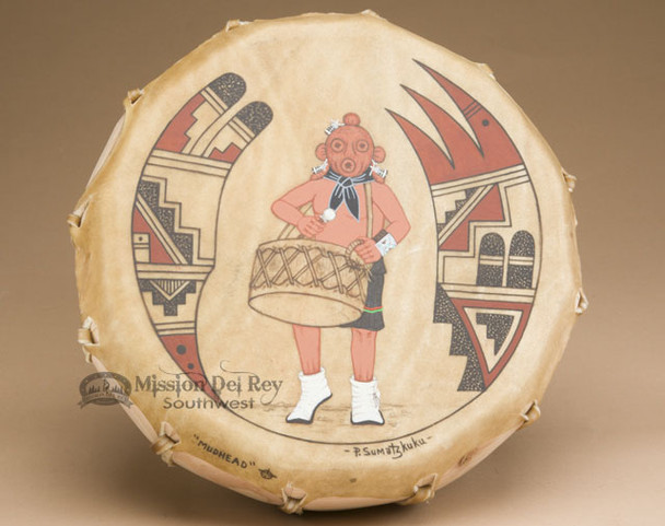 Native American Hopi Indian Painted Drum