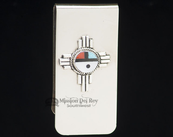 Zuni Indian Southwest Money Clip - Small Sunface