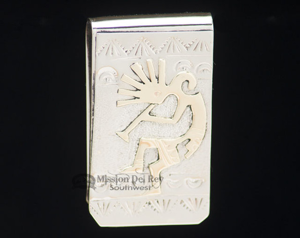 Navajo Indian Southwestern Money Clip - Kokopelli