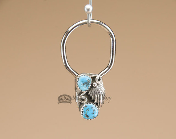 """Southwestern Zuni Indian Key Fob 1.5"""" - Turquoise"""