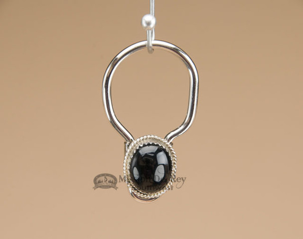 """Southwestern Zuni Indian Key Fob 1.5"""" - Black Opal"""