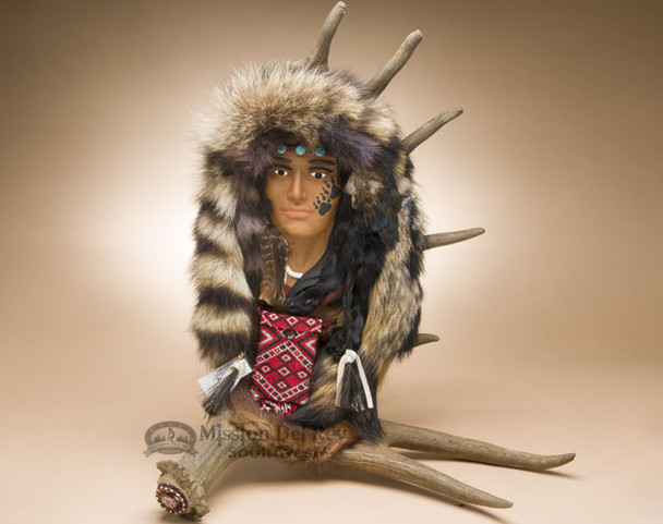 Native American Moose Antler Wall Art - Red Fox Maiden