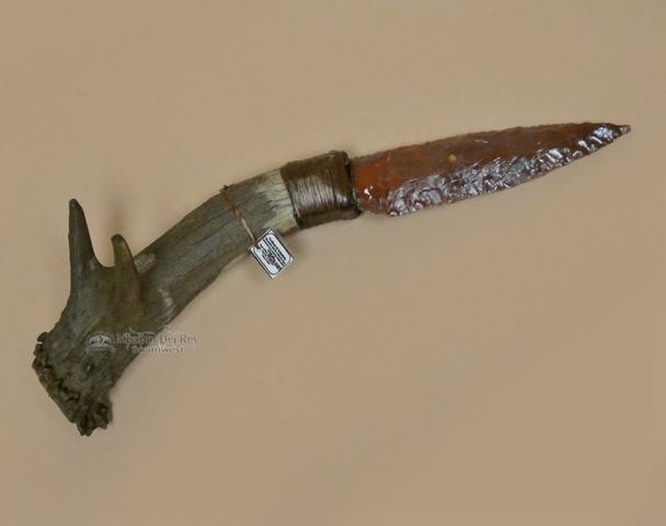 Antler Handle Creek Indian Stone Knife