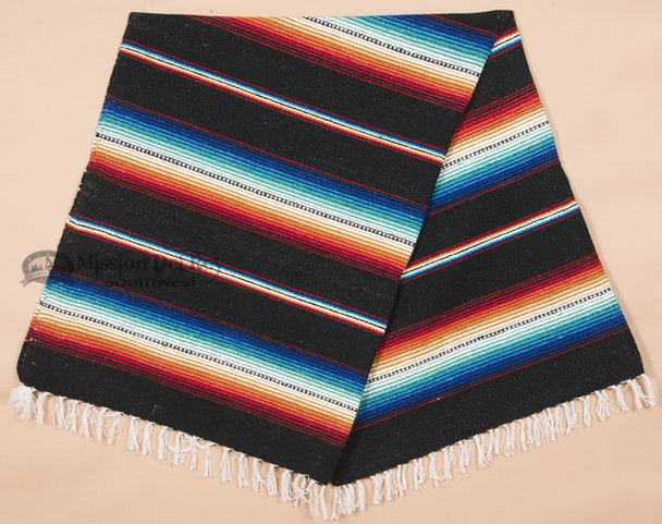Southwestern Old Serape Style Mexican Blanket