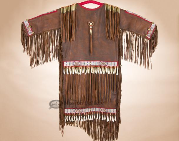 Tigua Pueblo Elk Hide Ceremonial Dress -Back