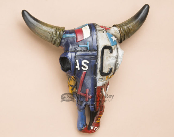 Decorative Texas License Plate Steer Skull