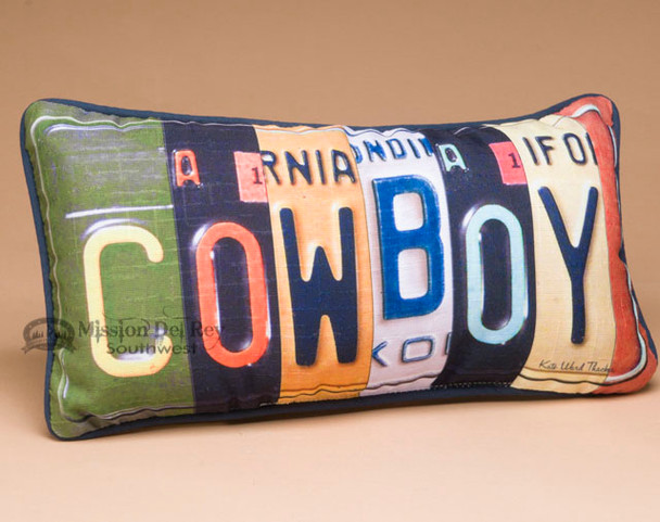 Western Decor Throw Pillow - Cowboy
