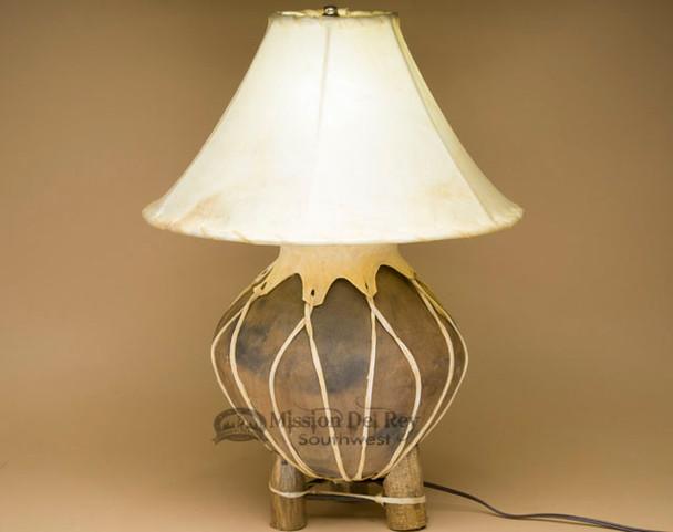 Western Tarahumara Indian Pottery Lamp for Rustic Decor