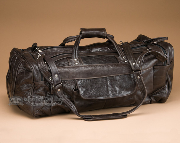 Genuine Cowhide Leather Travel Duffle Bag