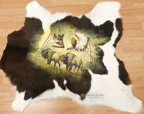 Cowhide hand painted Indian Art