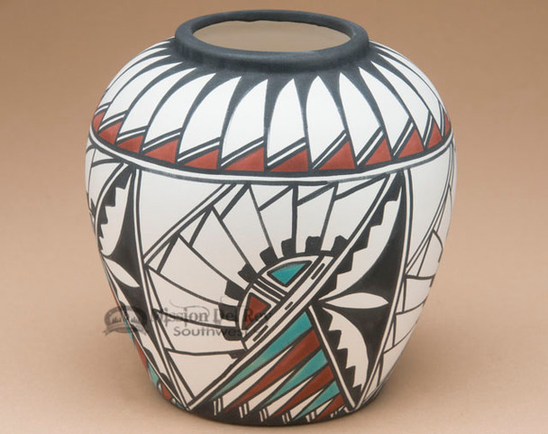 Tigua Indian Painted Pottery for Southwest Decor