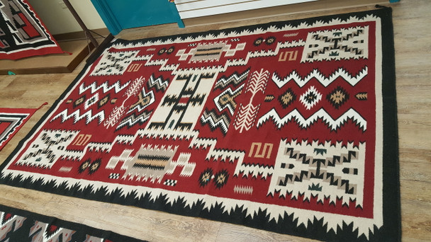 Large 6'x9' Southwestern Area Rug -Navajo Storm