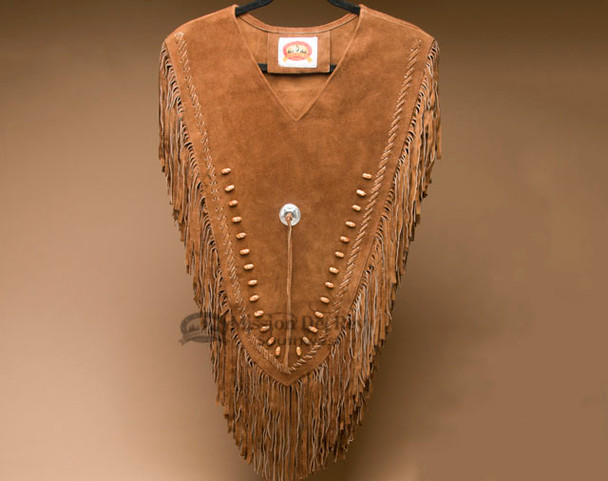 Beaded Leather Chaleco Dance Shirt