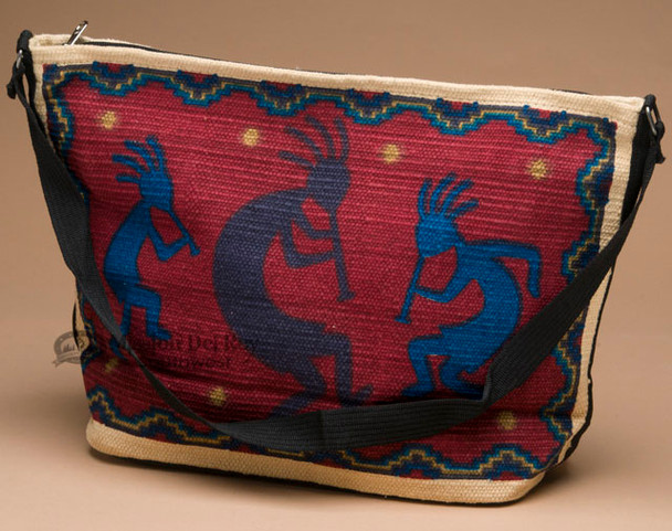 Southwestern Style Cotton Purse -Kokopelli Red