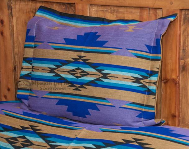 Southwestern Chevron Pillow Sham 24x28 -Purple