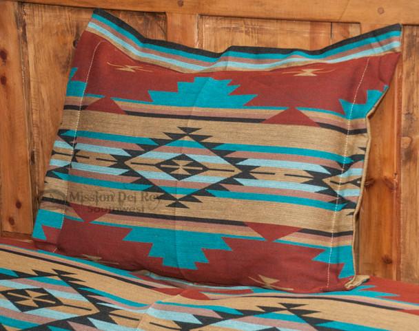 Southwestern Chevron Pillow Sham 24x28 -Rust