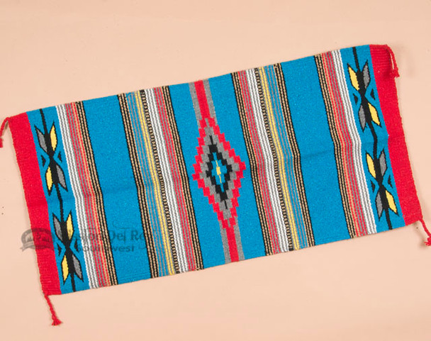 20x40 Southwestern Feather Area Rug -Blue