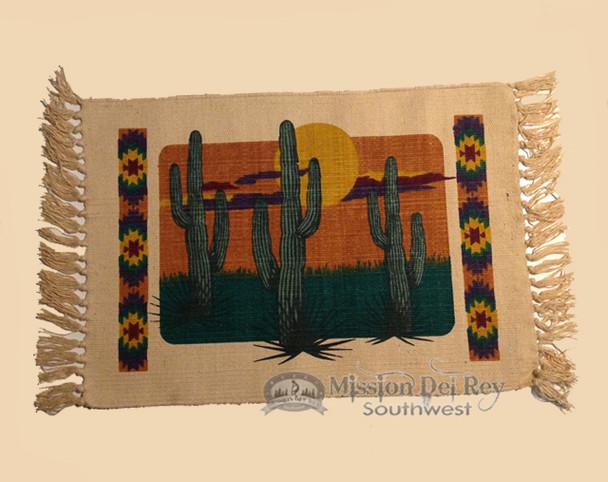 Southwestern Cotton Placemat 13x19 -Cactus
