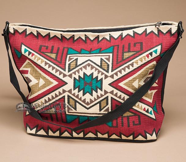 Southwest Native Design Purse -Red Navajo