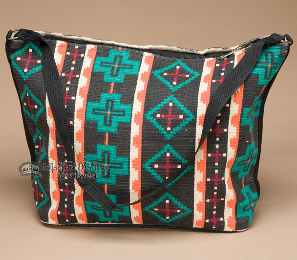 Southwest Native Design Purse -Black Cross